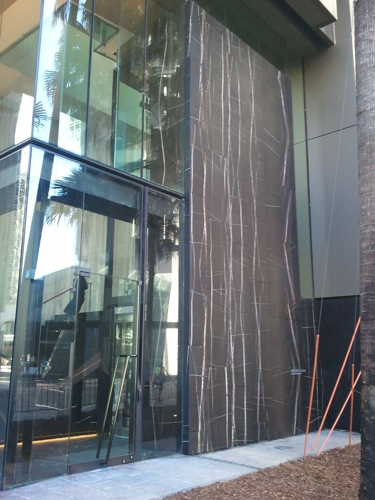 External facade of commercial premise - Natural Stone