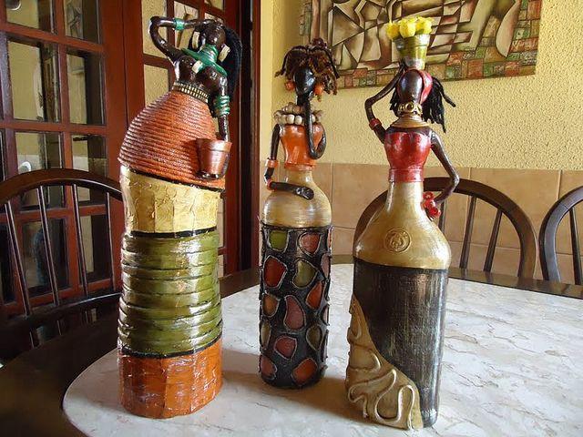 Fika a Dika - africana feitas a partir de garrafas