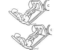 elevações de gémeos na prensa de pernas