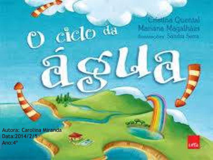 O ciclo da agua pela Carolina Miranda by profgaspar via slideshare