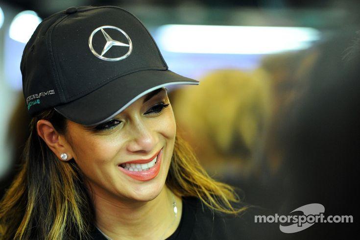 Nicole Scherzinger, Singer, girlfriend of Lewis Hamilton, Mercedes AMG F1