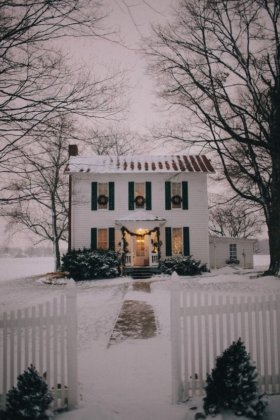 Lovely traditional home decorated for Christmas
