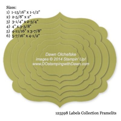 Labels Collection Framelits [125598] (Set/6) - sizes