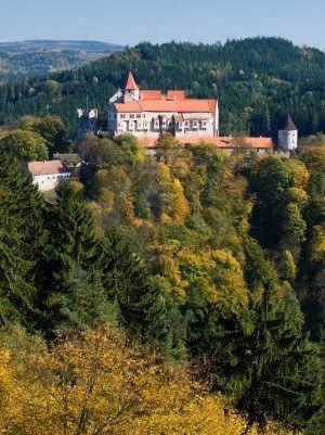 Gothic Pernstejn castle, Czech republic