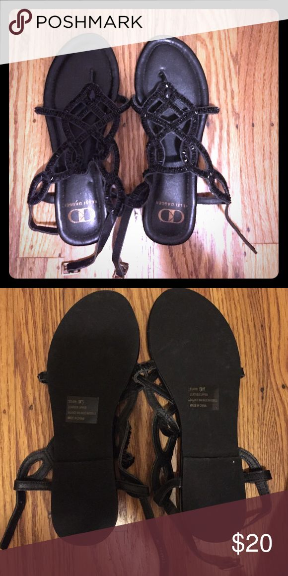 Kelsi dagger sandals new size 7 New black bling sandals size 7 Kelsi Dagger Shoes Sandals