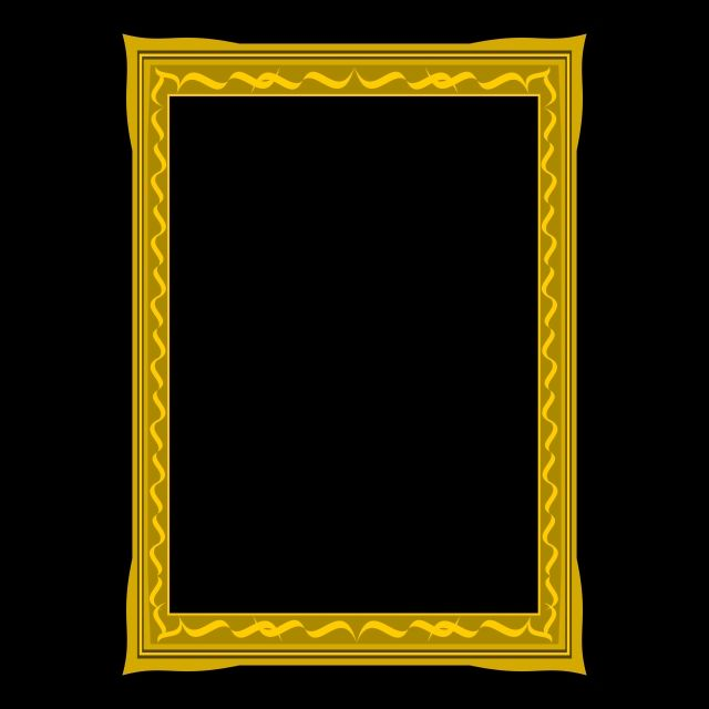 Gold Frame Design With Fancy Decoration Background Line Card Png And Vector With Transparent Background For Free Download
