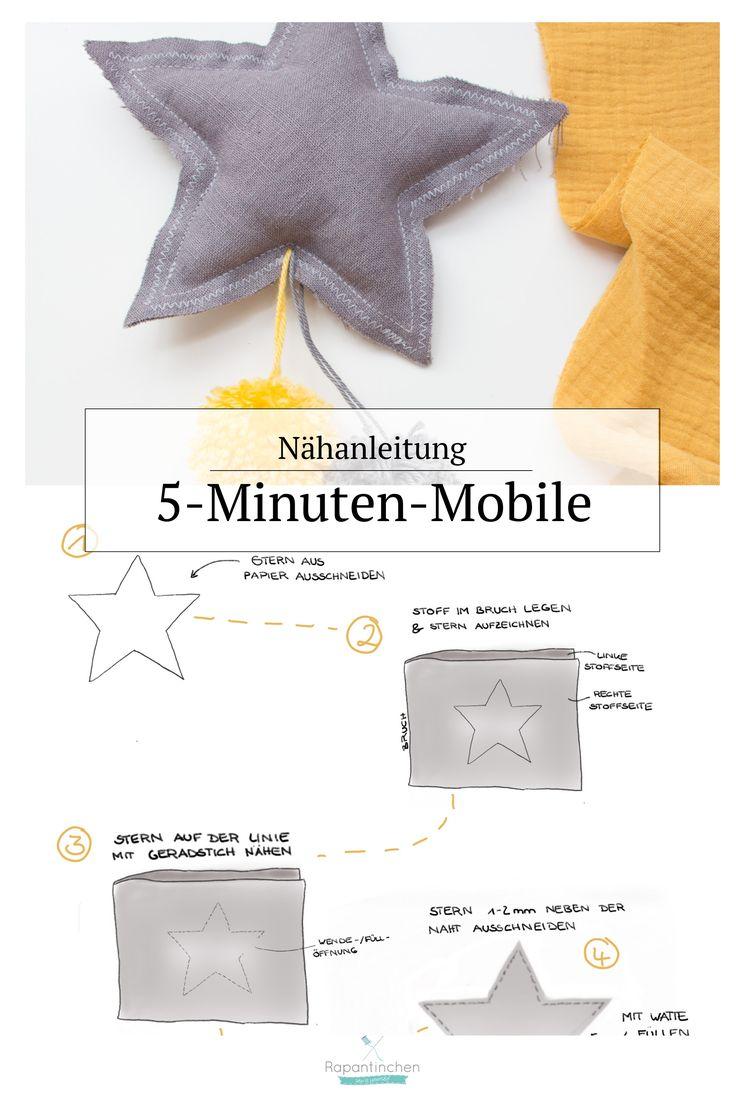 Nähanleitung – Mini Mobile in 30 Minuten nähen   – Rapantinchen || Nähblog, Schnittmuster & Stoffe