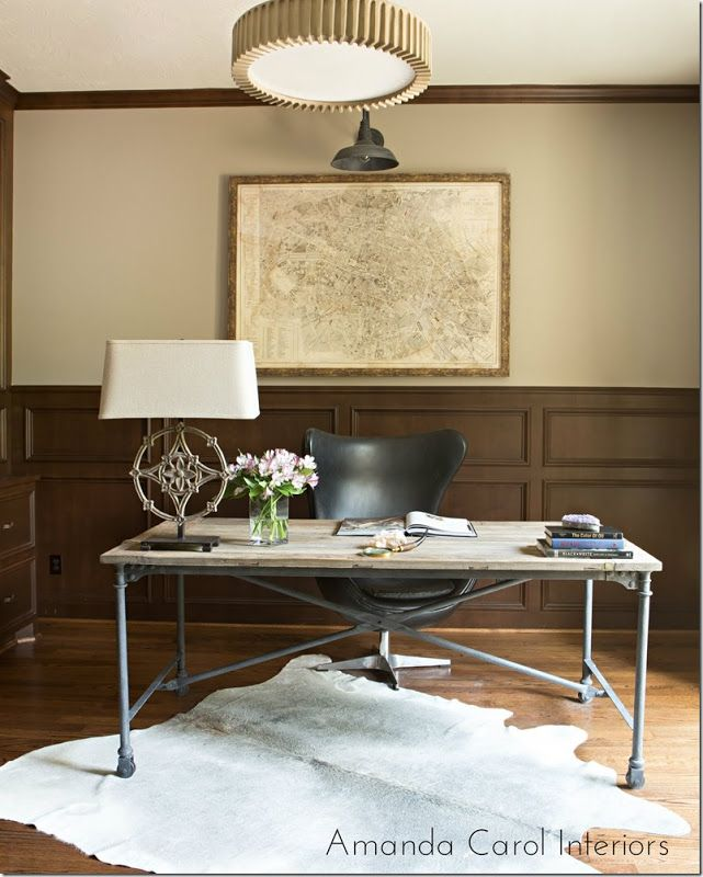 masculine office industrial home office images by amanda carol interiors