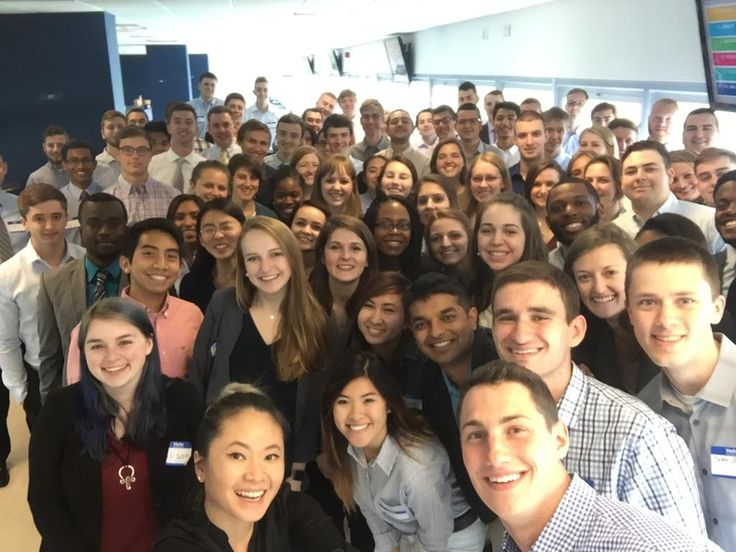 Pratt & Whitney is an aerospace manufacturer in the civil and military aviation space, employing more than 30,000 people in 180 countries worldwide, serving 11,000+ customers. With the college year now ended, it's intern season at Pratt & Whitney, and here's an epic office selfie showing the interns who are settling into the company for the summer.