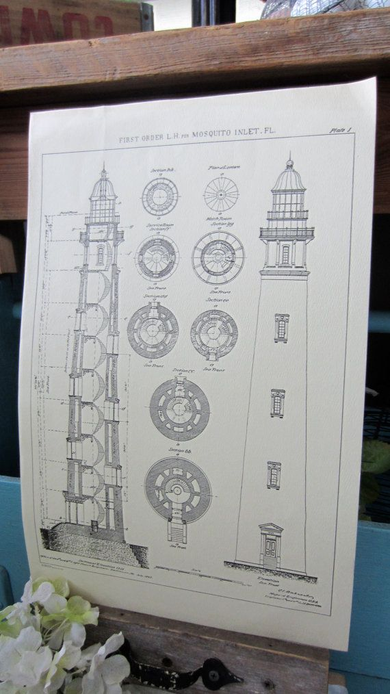 59 best tc15 images on pinterest lighthouses books and designer lighthouse blueprint art piece mosquito inlet by sycamoretrail malvernweather Images