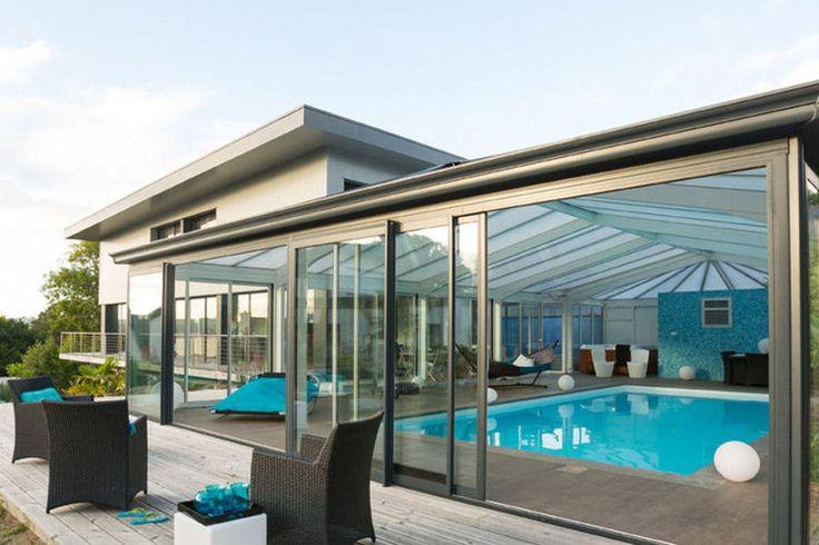 Une véranda de piscine : 20 belles vérandas pour agrandir votre maison - Linternaute #verandaserenity