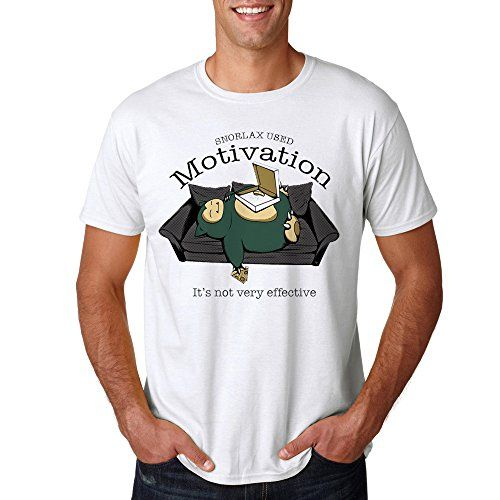 Pokemon Characters Snorlax Lazy Time for Men T-Shirt (Sma…