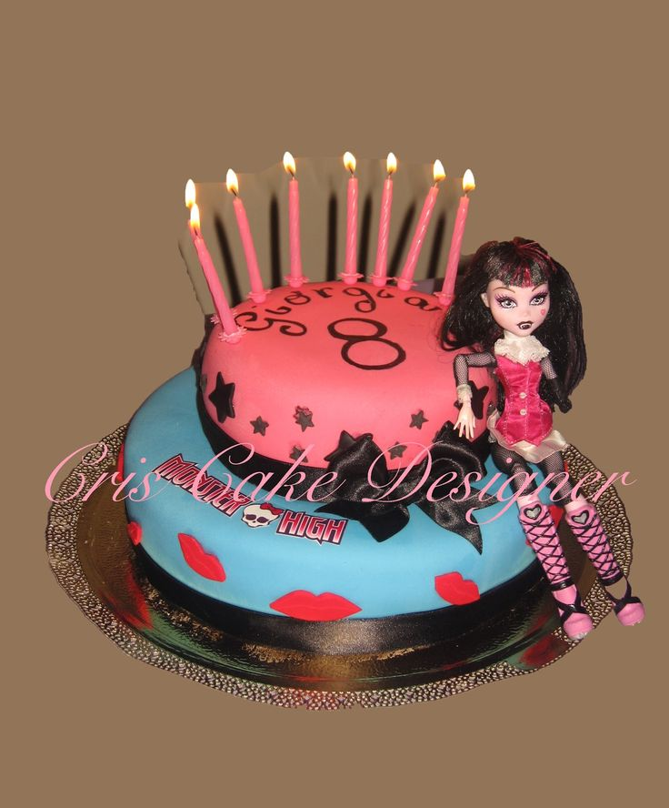 Ecco la torta che ho realizzato per il compleanno della mia bimba più grande una vera fan delle monster high...