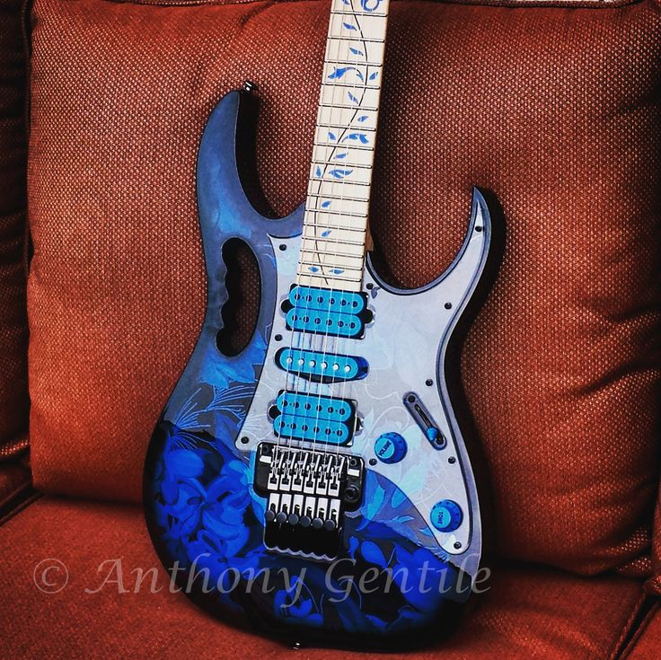 Ibanez Jem Blue Floral #Ibanez #jem #floral #Stevevai #guitar #axe #instrument #anthonygentilephotography