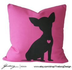 Chihuahua Pillow  Contemporary Dog Pillow Case  by YveborgDesign, $39.00 Visit our website now! Visit our website now!