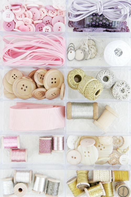 Handmade...Crafty, Soft Colors, Ribbons, Crafts Room, Bows, Buttons, Crafts Diy, Crafts Supplies, Sewing Notions