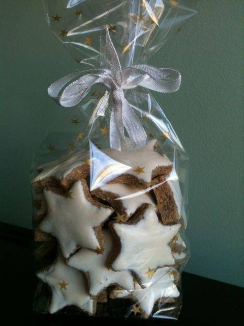 Moje Wypieki   Zimtsterne - niemieckie ciasteczka świąteczne