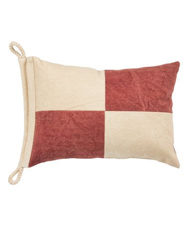 Another great find on #zulily! Red Blocks Nautical Throw Pillow #zulilyfinds