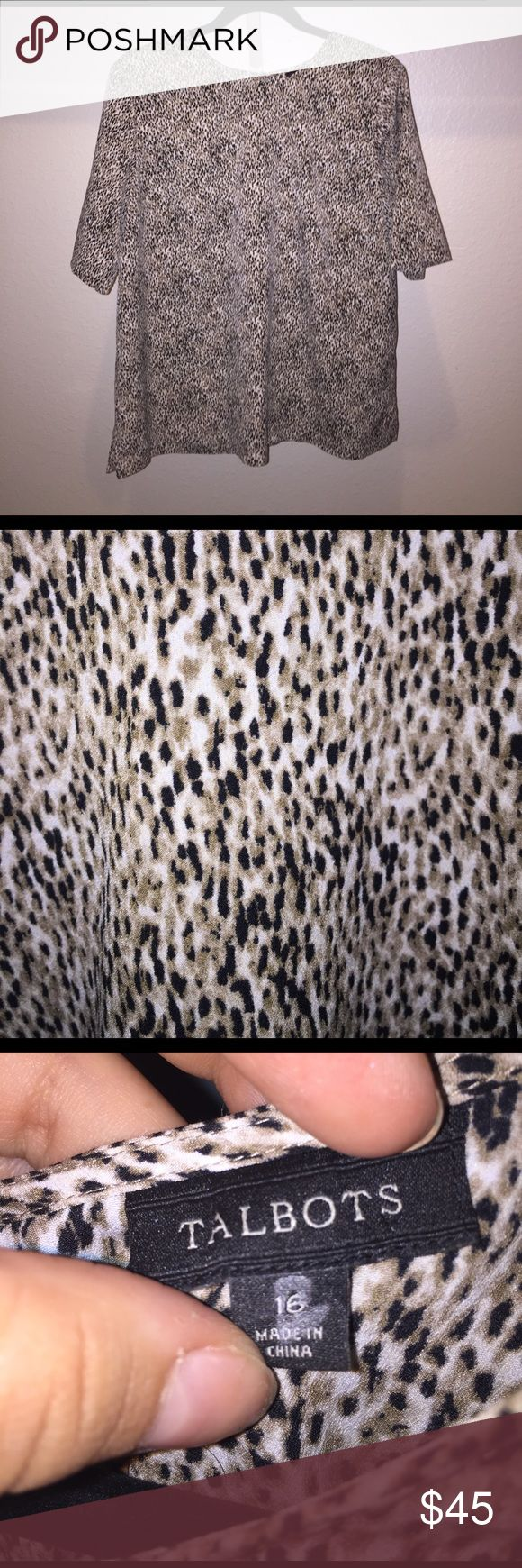 Talbots Animal Print Blouse Animal print blouse. Talbots. Size 16 Talbots Tops Blouses