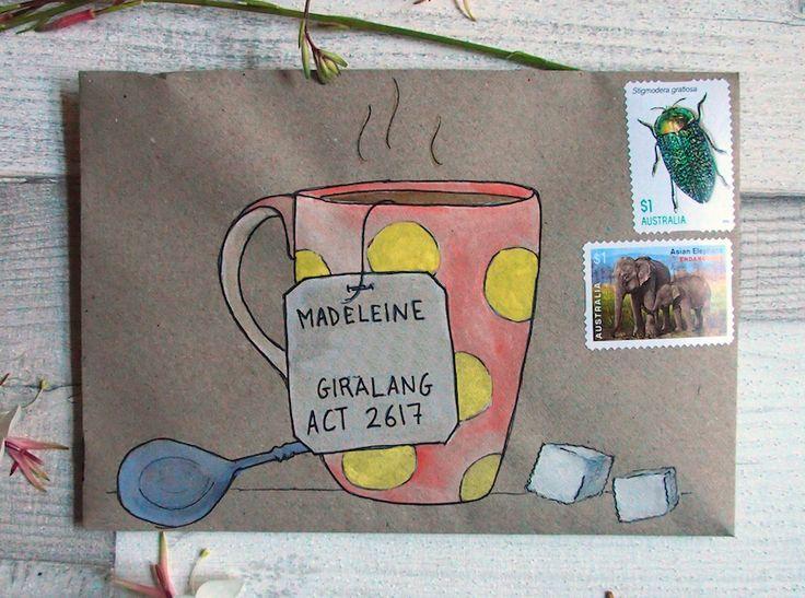 595 best Envelope Art images on Pinterest Envelope art, Mail art - new letter envelope address format canada