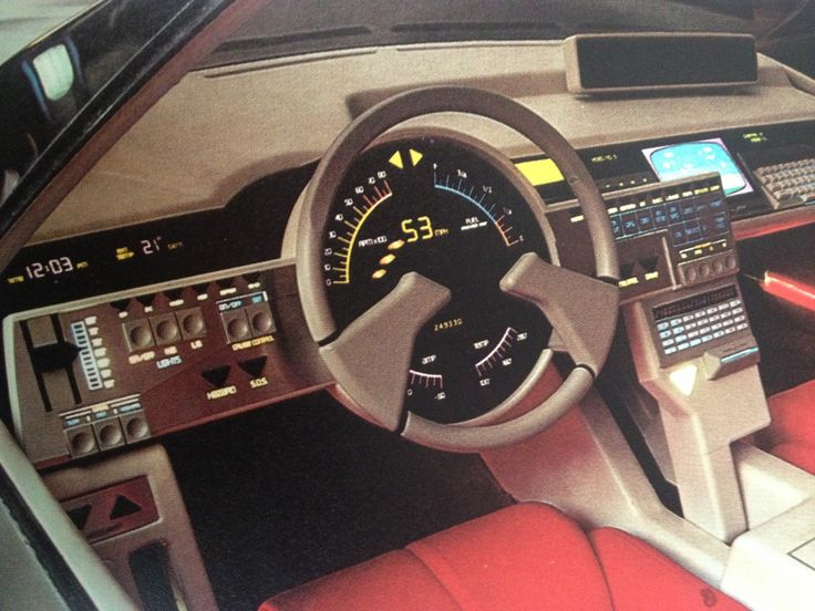 Ford Probe I - 1979 Same thing here. Dashboard IN the wheel