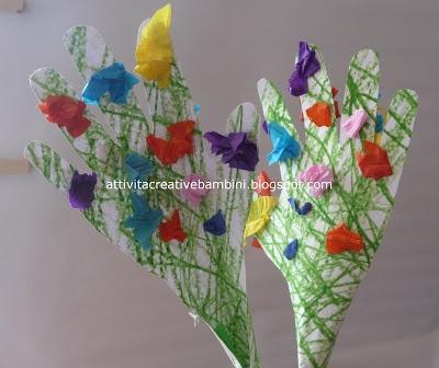 Attività Creative Per Bambini: Manine-fiore per la Festa della Mamma