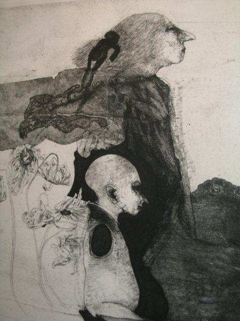 Robert Ernst Marx - etching -