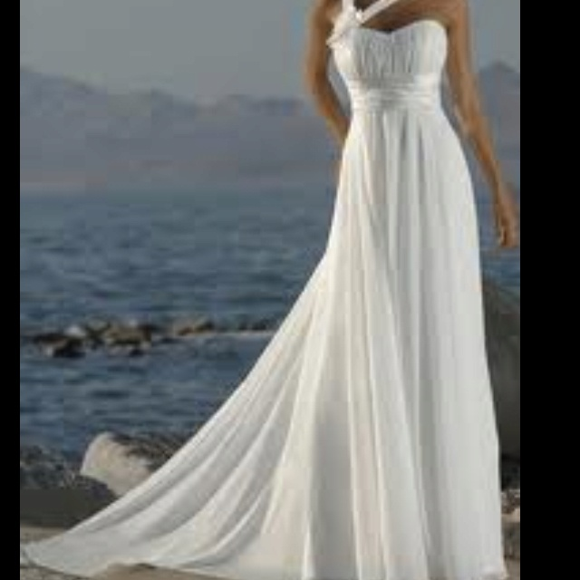 99 best images about beach wedding dresses on pinterest for Dresses to renew wedding vows