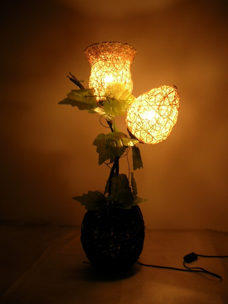 13 best images about pretty lamps on pinterest flower lamp paper flowers and lampshades - Hand made lamps ...