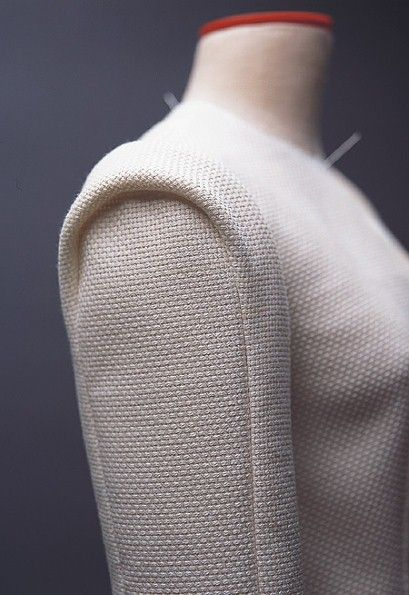 From Pattern Magic by Tomoko Nakamichi, I'm thinking jacket sleeves?