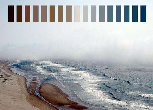 Blue gray brown color scheme