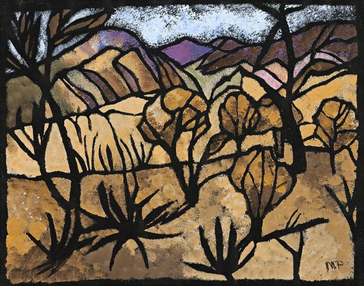 Margaret Preston (1875-1963) - A Mile Out of Alice Springs, 1949