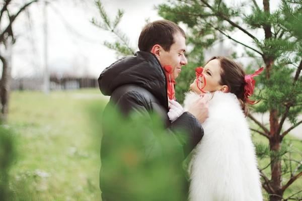 ноябрьская свадьба #wedding #bride #red