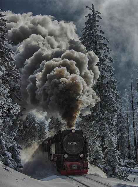 Tren vapor del Harz - Foto scattata a Brockenhaus, Sassonia-Anhalt, Germania. #treni #trains