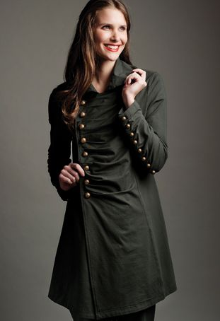 milton military car coat (Neon Buddha)... got a thing for military style tops...