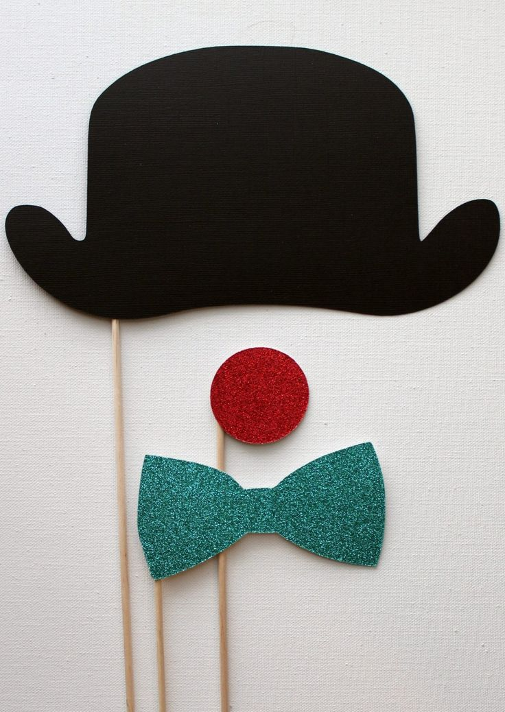 Derby Bowler Hat Glittered Clown Nose and by LittleRetreats. $11.25, via Etsy.