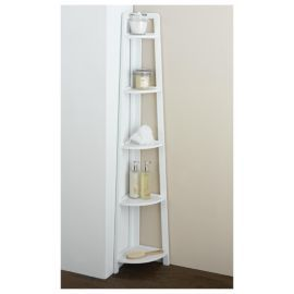 buy sheringham bathroom 5 tier corner shelving unit white wood from our bathroom standing cabinets u0026 storage range tesco