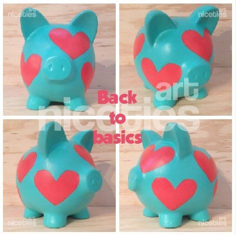 Alcancia hearts basic poink