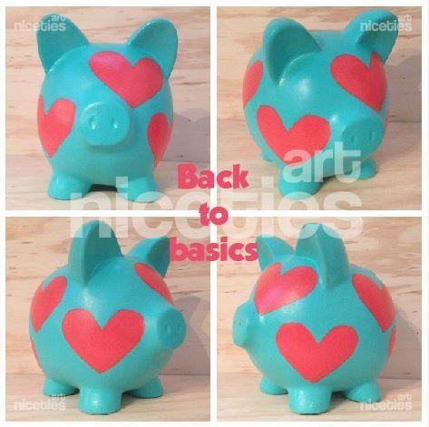 Alcancia hearts basic poink