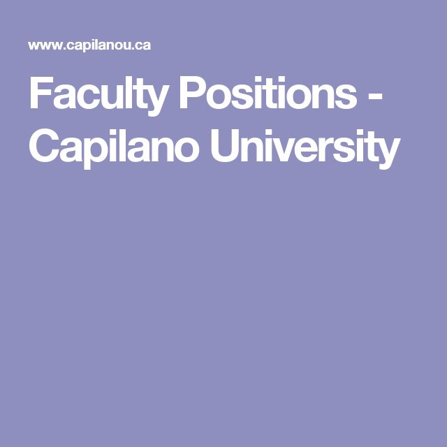 Faculty Positions - Capilano University