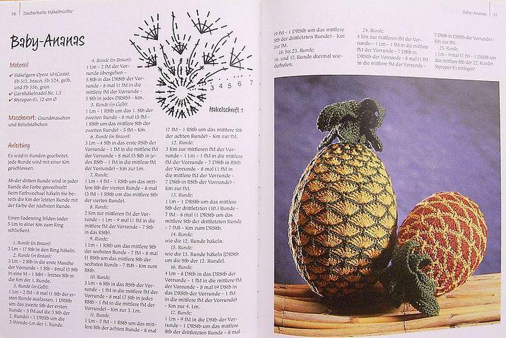 Связанные крючком овощи и фрукты 17.