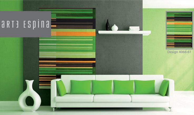 Tappeto verde disegno ad effetto grafico