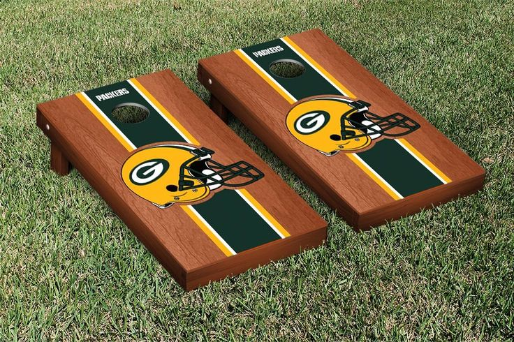 Green Bay Packers Nfl Football Regulation Cornhole Game