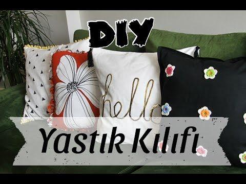 Dikişsiz Yastık Kılıfı ( Kendin Yap) / Kırlent - DIY No-Sew Pillow Case