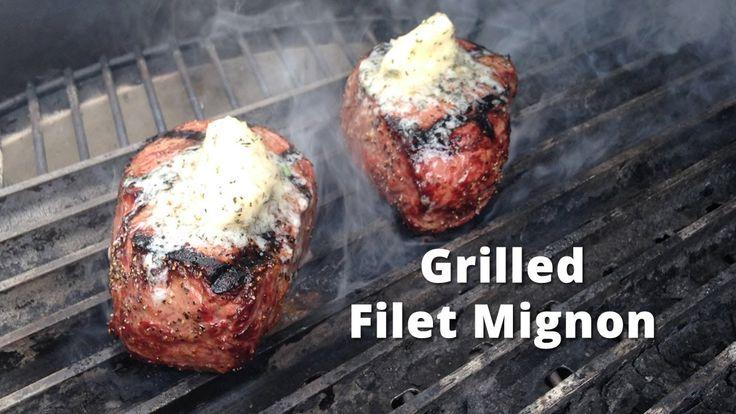 Grilled Filet Mignon on the Big Green Egg | Filet Mignon Steak Recipe fr...