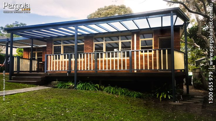 Outdoor living suits every kind of home. For south and east facing areas, you can maximise light by using polycarbonates like Pergola Lands PolicarbIR, made for faultless Aluminium Framing.