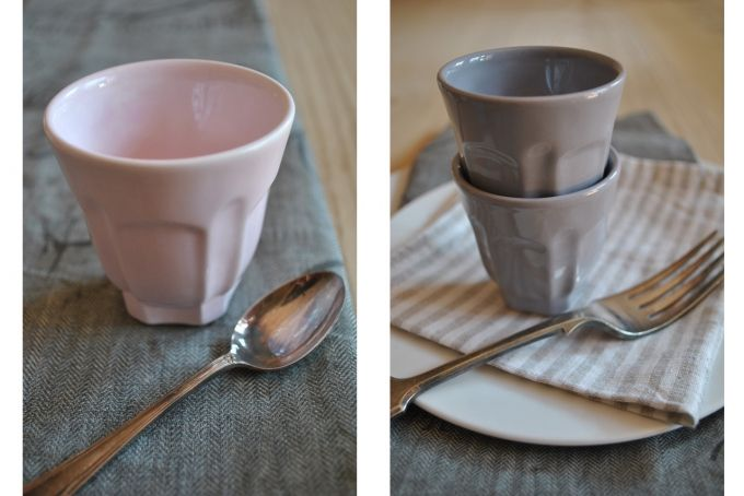 set of 4 icecream cups by josephine road by KA.AD