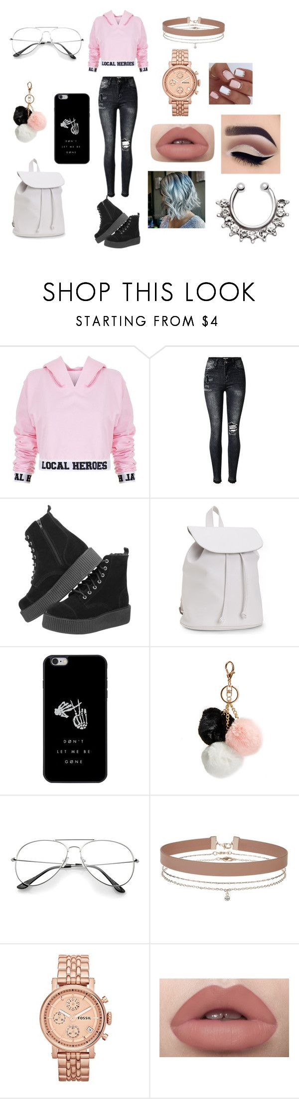 Hoodie #6 by infinityisangel on Polyvore featuring Local Heroes, Aéropostale, FOSSIL, Miss Selfridge and GUESS
