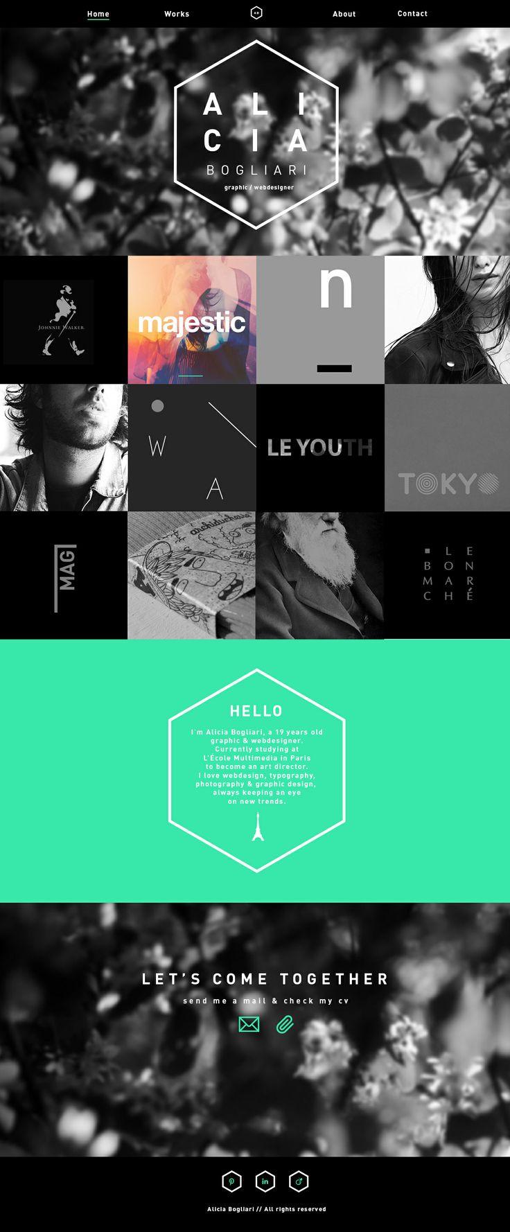 Mon Portfolio, webdesign, alicia bogliari