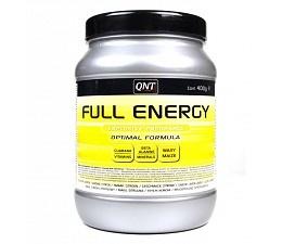 """Full energy """"de nieuwe generatie in energiepoeder"""". QNT Full energy is een combinatie van snelle koolhydraten (dextrose, fructose) en complexe koolhydraten (maltodextrine).  SA prijs: €12,49 (400 gr)"""